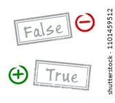 true and false grunge rubber... | Shutterstock .eps vector #1101459512