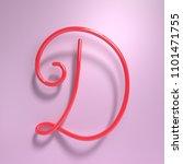 3d rendering handwritten shiny... | Shutterstock . vector #1101471755