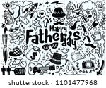 happy father s day hand drawn... | Shutterstock .eps vector #1101477968