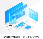 business analysis system ... | Shutterstock .eps vector #1101477992