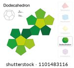 dodecahedron platonic solid...   Shutterstock .eps vector #1101483116