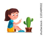 upset preschool girl kid... | Shutterstock .eps vector #1101489032