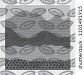 doodle leaves pattern | Shutterstock .eps vector #1101491915