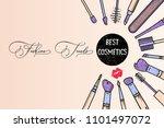 makeup artist banner. beauty... | Shutterstock .eps vector #1101497072