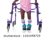 young girl with cerebral palsy... | Shutterstock . vector #1101498725