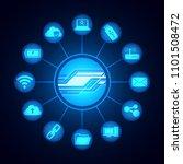 digital technology icons  ...   Shutterstock .eps vector #1101508472