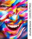 portrait of the bright... | Shutterstock . vector #1101517502