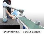 engineer programing controller... | Shutterstock . vector #1101518006