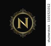 n initial letter logo template...   Shutterstock .eps vector #1101521012