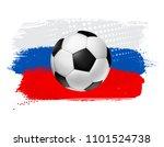 vector soccer football ball on... | Shutterstock .eps vector #1101524738