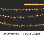 christmas lights isolated... | Shutterstock .eps vector #1101528305