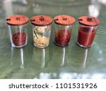 Small photo of Noodles Seasoning in glass, wooden lids set.