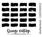 set of black brush stroke and... | Shutterstock .eps vector #1101543212