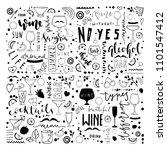 doodle hand drawn drinks... | Shutterstock .eps vector #1101547412