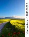 italy tuscany countryside  farm ... | Shutterstock . vector #1101553622