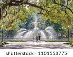 forsyth park  savannah  georgia ... | Shutterstock . vector #1101553775