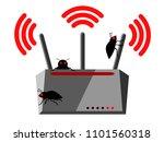 illustration of wireless router ... | Shutterstock .eps vector #1101560318