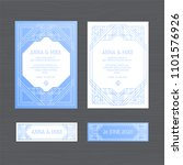 luxury wedding invitation or... | Shutterstock .eps vector #1101576926