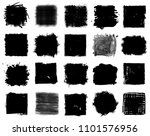 grunge style set of square... | Shutterstock .eps vector #1101576956
