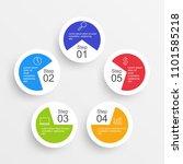 circle infographic design... | Shutterstock .eps vector #1101585218