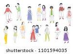 vector illustration in flat...   Shutterstock .eps vector #1101594035