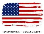grunge american flag.flag of... | Shutterstock .eps vector #1101594395