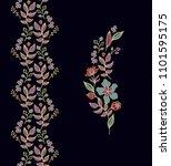 vector floral border ornament... | Shutterstock .eps vector #1101595175