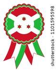burundi award ribbon vector in... | Shutterstock .eps vector #1101595598
