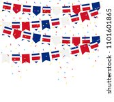 costa rica bunting flags with... | Shutterstock .eps vector #1101601865