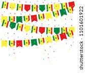 senegal celebration bunting... | Shutterstock .eps vector #1101601922