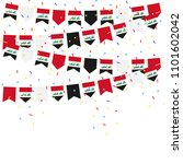 iraq bunting flags with... | Shutterstock .eps vector #1101602042