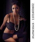 beautiful exotic young woman... | Shutterstock . vector #1101603602