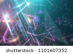abstract neon background.... | Shutterstock . vector #1101607352