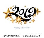 2019 happy new year background... | Shutterstock .eps vector #1101613175