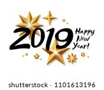 2019 happy new year background... | Shutterstock .eps vector #1101613196