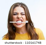 Woman With Toothy Brush....