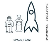 space team icon. flat style...