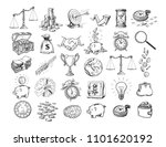 big business set. sketch of... | Shutterstock .eps vector #1101620192