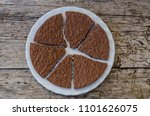 top view of portions of crunchy ... | Shutterstock . vector #1101626075