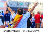 madrid celebrates winning her... | Shutterstock . vector #1101629096