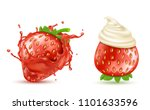 vector set of two red ripe... | Shutterstock .eps vector #1101633596
