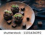 chocolate brownie cake  dessert ... | Shutterstock . vector #1101636392