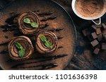 chocolate brownie cake  dessert ... | Shutterstock . vector #1101636398