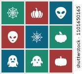 halloween icon. collection of 9 ... | Shutterstock .eps vector #1101650165