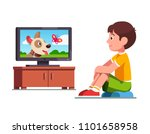 smiling preschool boy kid... | Shutterstock .eps vector #1101658958