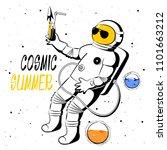 vector illustration astronaut... | Shutterstock .eps vector #1101663212