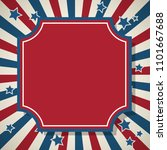 american patriotic background.... | Shutterstock .eps vector #1101667688
