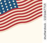 american flag patriotic... | Shutterstock .eps vector #1101667715