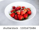 top of view fresh strawberry in ... | Shutterstock . vector #1101672686