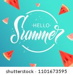 hello summer handwritten... | Shutterstock .eps vector #1101673595